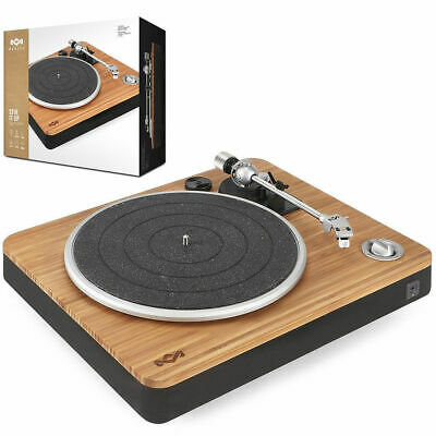 Marley EMJT000SB Stir It Up Turntable/Vinyl/Record Player/USB to PC/Bamboo/Black