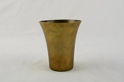 Early 19Th Century Brass Flower Vase- Heavy Cast