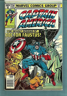 Captain America 236 Bronze Age Dr Faustus Nice Vf