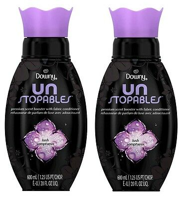 2 Downy Unstopables In-Wash Scent Booster LUSH Deodorizer Fabric Conditioner 20z