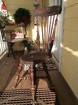 Antique Vintage Wooden Piano/Organ  Stool w/Claw & Ball Feet (seat missing)