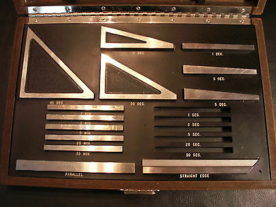 Starrett Webber angle gage gauge blocks set