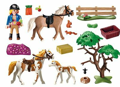 Paddock with Horses and Pony PLAYMOBIL Country