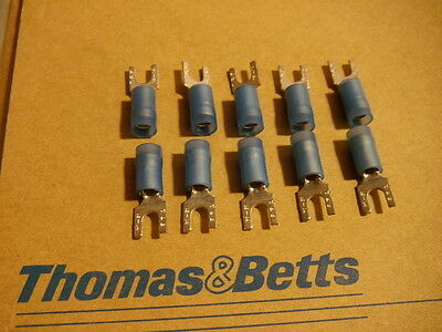 Thomas & Betts RB1103 Sta-Kon 18-14 AWG Insulated Fork Terminal Connectors x 10