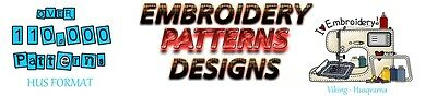 110,000+ EMBROIDERY MACHINE PATTERNS DESIGNS HUS Format - Husqvarna Viking