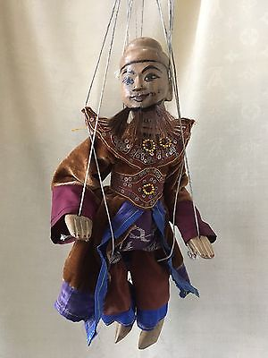 Vintage Myanmar Burmese Wooden Puppet Vintage Burmese Hill Country 14 Inches