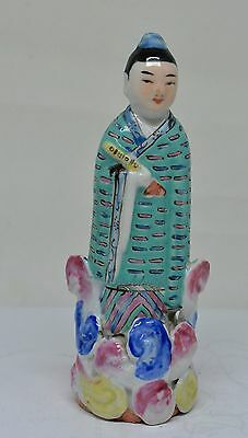 Antique Chinese Famillie rose Figurine ~ 5 Inches Tall ~