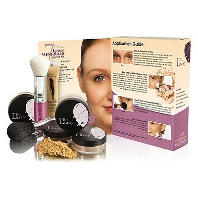 Thin Lizzy 7 Piece Loose Minerals Starter Kit - Medium, Light and Tan Available