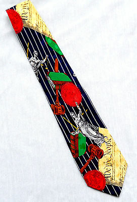 Addiction Silk Tie Legal Law theme U.S. Constitution Great Seal Lady Justice...