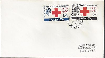 1963 Jamaica FDC Red Cross Issue Scott 203-4