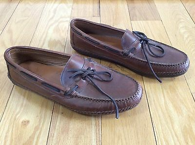 Cabela's Style #601049 Brown Leather Slippers Loafers Moccasins Men's Size 12 D
