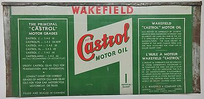 Wakefield Castrol Flattened Motor Oil Can - wall art sign - Canadian