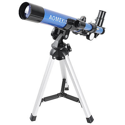 20-32X Refractor Astronomical Telescope Optical Lens With Tripod For Kids Blue