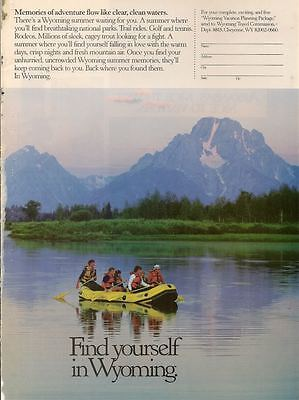 Find Yourself in Wyoming 1988  Magazine - Print Ad