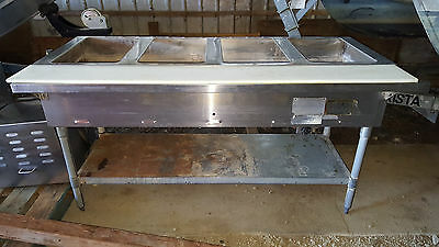 Eagle Group 4 Well Steam Table Commercial Stainless Steel Natural Gas Hot Food