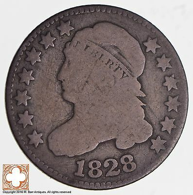 1828 Capped Bust Dime JR-2 Large Date *2773