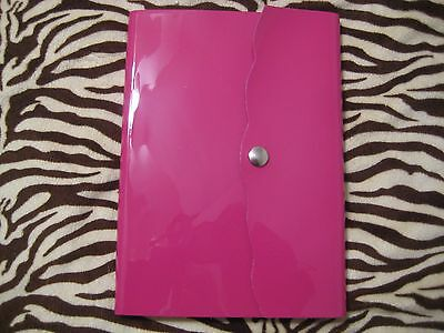 New Pratesi Florence Patent Leather Journal / Diary Notebook Hot Pink - Italy