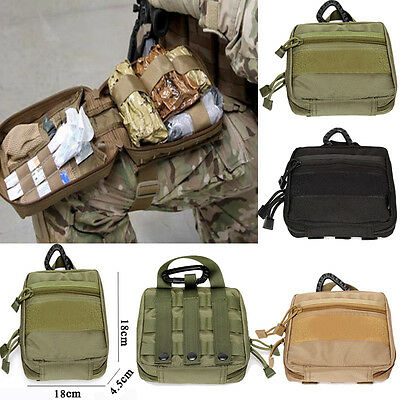 """1000D Molle Military EDC Utility Army Tool Bags 18cm First Aid Pouch Case Bag """""""