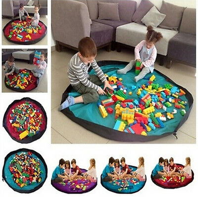 6 Colors Portable Kids Baby Toy Storage Bag Play Mat Toys Organizer Box 100cm