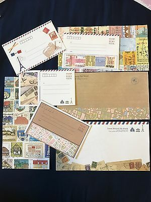Traveler's Cafe Letter Set - 4 Envelopes & 8 Writing Paper