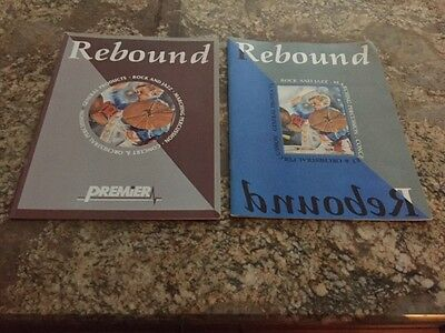 """NEW Set of 2 Early '90s Premier Drums """"Rebound"""" Catalogs"""