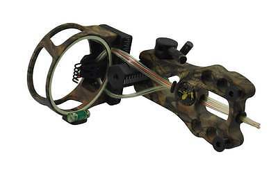 Camo Tool Less Pro Sight 5-Pin Fibre Optic Sight For Compound Bow Led Light