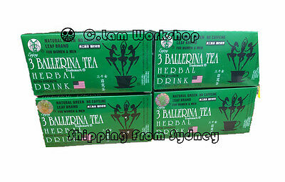 4 X 3 Ballerina Tea Extra Strength 18 Tea Bags Slim Tea Diet Tea Weight Loss