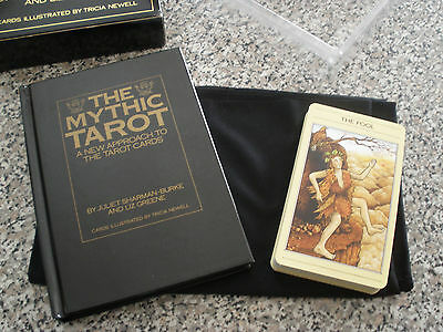 Vintage Mythic Tarot Set - Hardcover guidebook, cloth, and cards