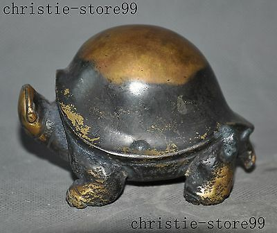 old chinese bronze gilt animal longevity Turtle tortoise lucky statue
