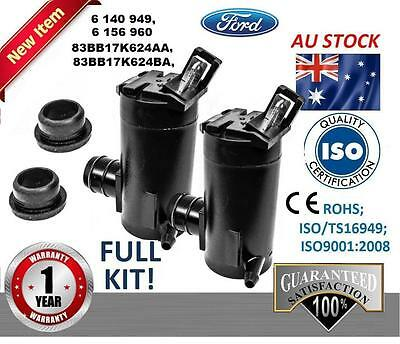 Pair Windscreen Washer Pump Front + Rear Ford Territory SX SY SZ 2004-2014 V6