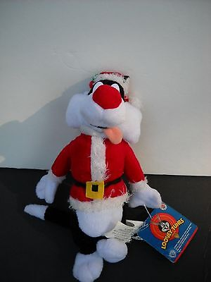 Looney Tunes Christmas Sylvester the cat plush, Nanco, Warmer Brothers, Santa