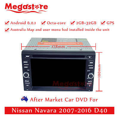 """6.2"""" Octa Core Android 6.0 Car DVD GPS Player For Nissan Navara 2007-2016 D40"""