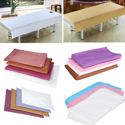 36Style Beauty Massage SPA Cotton StripeBed Table Couch Cover Sheet With Hole HL