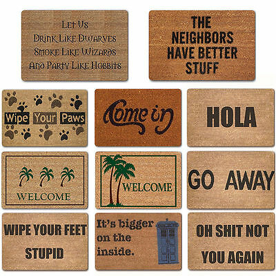 40x60cm Non Slip Entrance Door Mat Floor Rug-Carpet Welcome Mat Funny Words Mat
