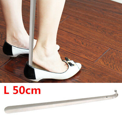 50cm Extra Long Shoe Horn Stainless Steel Metal  Remover Shoehorn Aid Stick UK