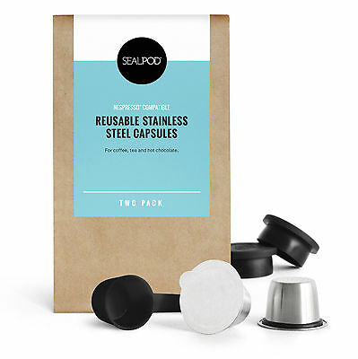 SealPod Two Pack - Reusable Nespresso Compatible Coffee Pod