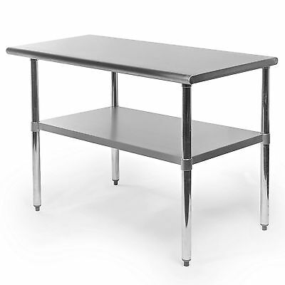 "Commercial Stainless Steel Kitchen Food Prep Work Table - 24"" x 48"" NSF Certifie"