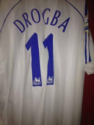 *ULTRA RARE* Didier Drogba Chelsea Away Jersey 06/07 w/ Champions Badges