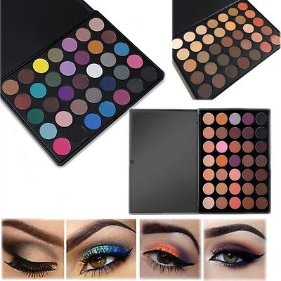 35 Colour Neutral Warm Eyeshadow Palette Morphe Shimmer Smoky Eye shadow Make Up