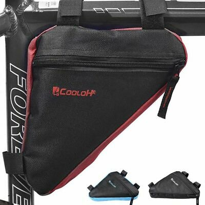 Mountain Bike Bicycle Cycling Front Top Tube Frame Saddle Storage Bag Pack Pouch