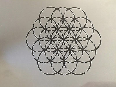 Geometric Pattern Tile A4 Mylar Reusable Stencil Airbrush Painting Art Craft