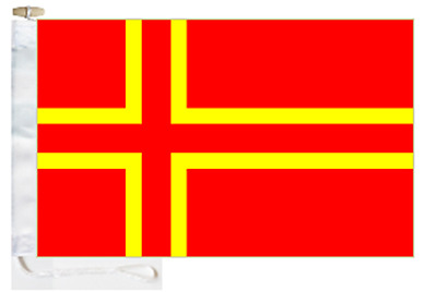 France Cross of Normandy (Mouvement Normand) Courtesy Boat Flag Roped & Toggled