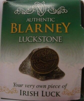Ireland Authentic Blarney Luckstone  With Coin