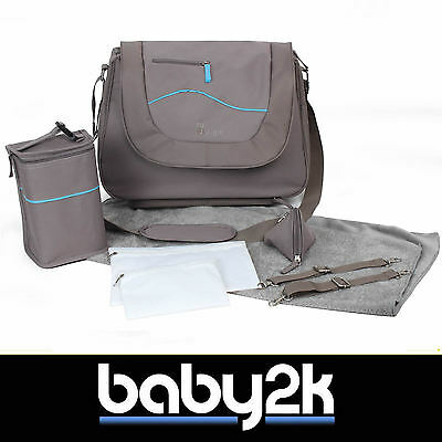 Bo Jungle B-Leisure Baby Nappy Nursery Changing Bag in Taupe with Free Extras BN