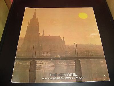 1971 Buick Opel Sales Brochure 17 Pages EX Condition