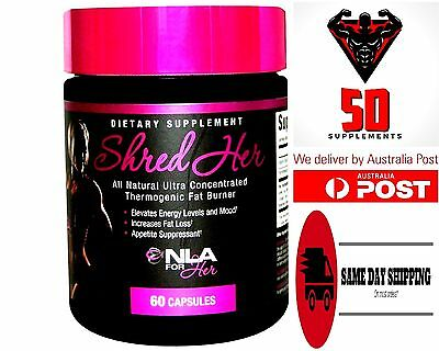 NLA for HER  ( SHRED HER ) 60 Capsules ULTRA THEMOGENIC WEIGHT LOSS BURNER