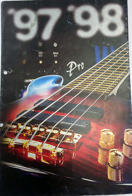 Warwick bass and amps 1997-98 catalog