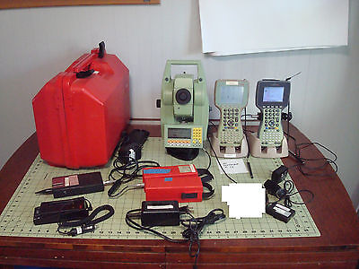 Leica TCRA1105plus Reflectorless Robotic Total Station w/ Accessories