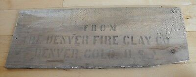 Wooden Vintage Denver Fire Clay Mining Box End