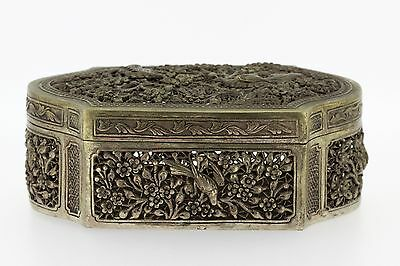 Antigue Chinese CRICKET Cage Excellent Artwork 925 Silver
